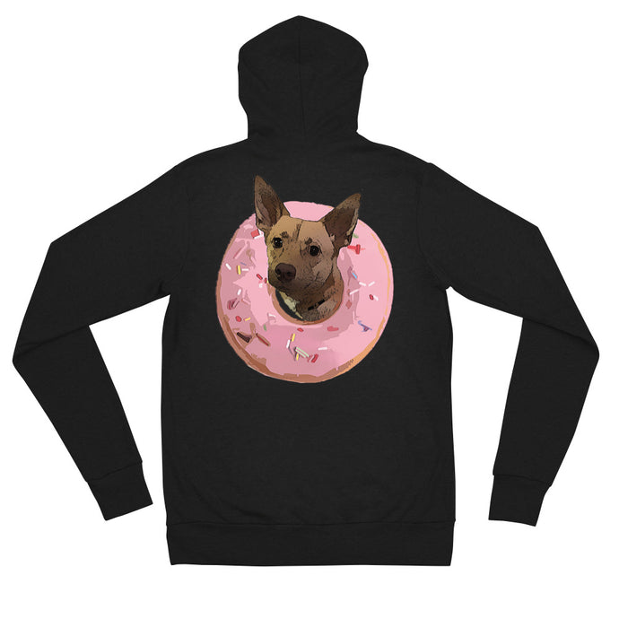 Donutz The Dog - Zip Up Hoodie - Book and Self