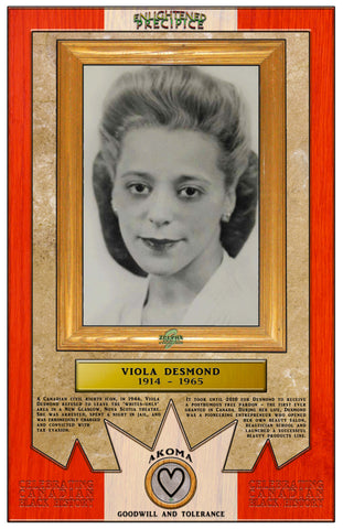 ENLIGHTENED PRECIPICE 3D BLACK HISTORY (CANADA): Viola Desmond 3D Special Edition Poster