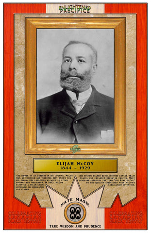 ENLIGHTENED PRECIPICE 3D BLACK HISTORY (CANADA): Elijah McCoy 3D Special Edition Poster