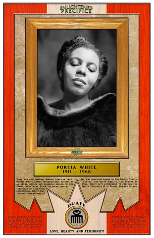ENLIGHTENED PRECIPICE 3D BLACK HISTORY (CANADA): Portia White 3D Special Edition Poster