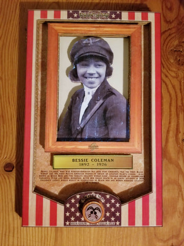 ENLIGHTENED PRECIPICE 3D BLACK HISTORY (AMERICA): Bessie Coleman 3D Special Edition Poster