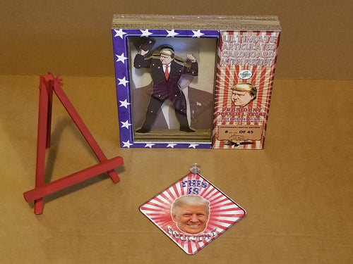 PRESIDENT DONALD TRUMP Limited Edition Handmade Cardboard Action Figurine