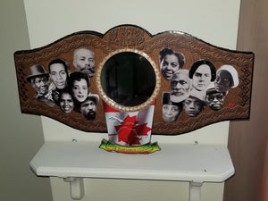 Reflection of Black Excellence: Handmade 3D Inspirational Black History Mirror Poster (Canada)