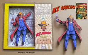 Golden Age ACE HARLEM Limited Edition Handmade Cardboard Action Figurine