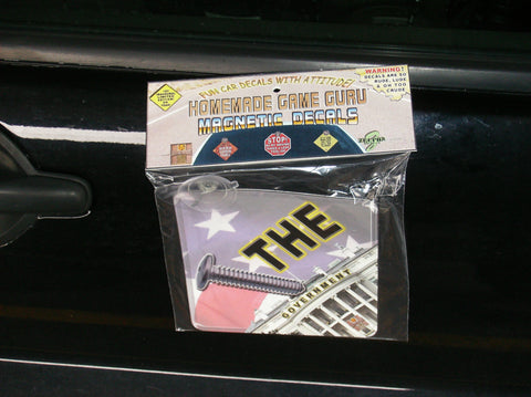SCREW THE GOVERNMENT!: Magnet/Suction Cup Car Decal