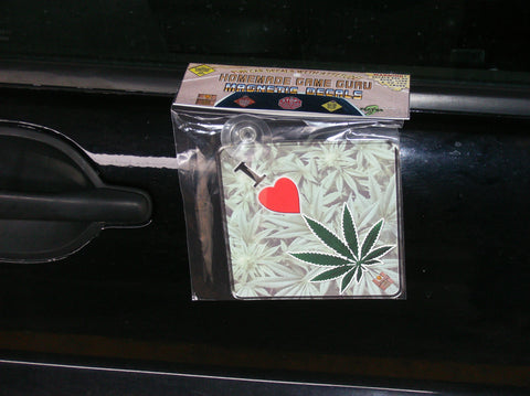 I LOVE WEED/MARIJUANA: Magnet/Suction Cup Car Decal