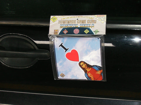 I LOVE JESUS: Magnet/Suction Cup Car Decal