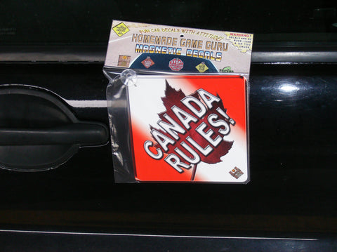 CANADA RULES!: Magnet Car Decal