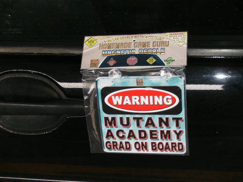 WARNING: MUTANT ACADEMY GRAD ON BOARD: Magnet Car Decal