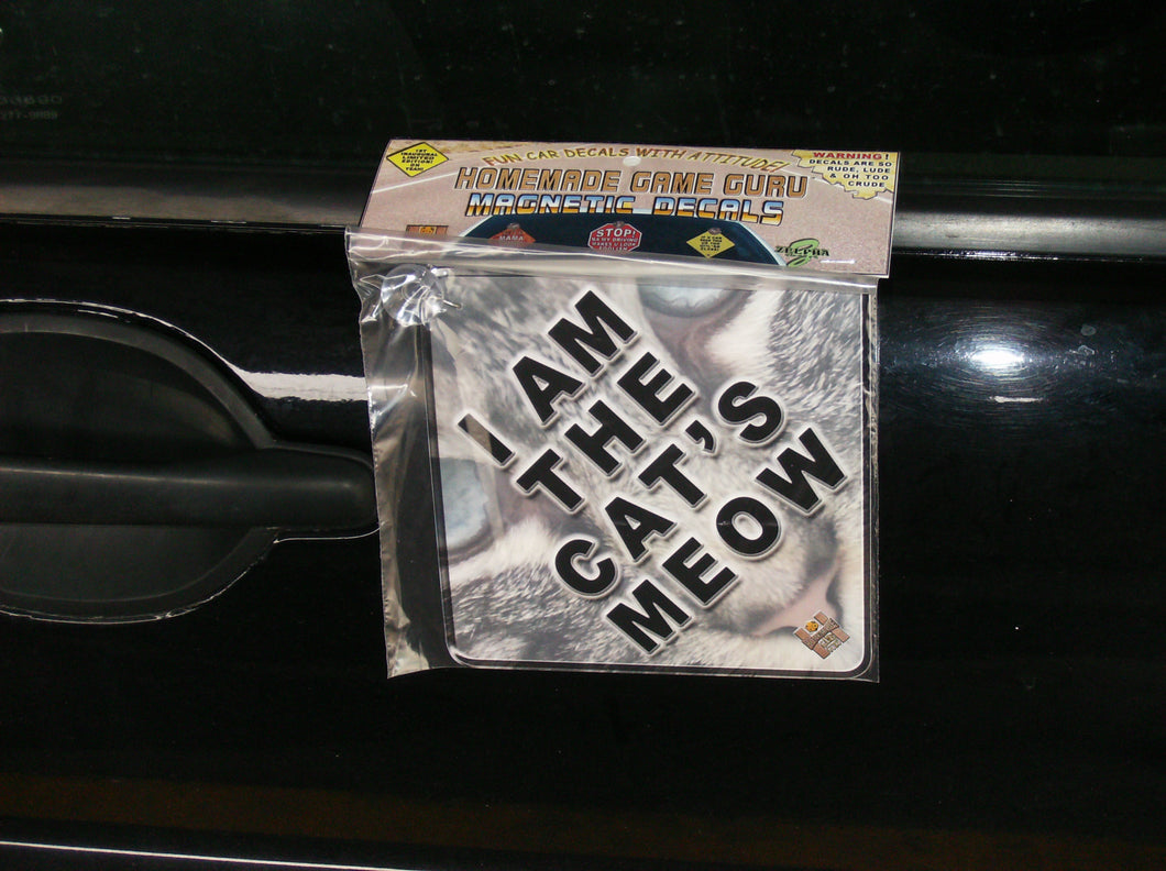 I'M THE CAT'S MEOW: Magnet/Suction Cup Car Decal