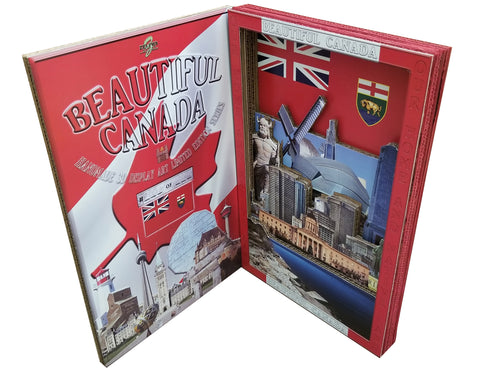 BEAUTIFUL CANADA SERIES: MANITOBA 3D limited edition poster-booklet 1/50 Canada Day