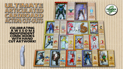 The Ultimate Articulated Cardboard Comic Book Action Cut-Outs (Kickstarter Campaign)