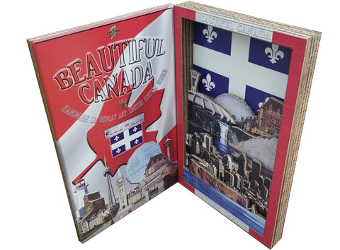 BEAUTIFUL CANADA SERIES: QUEBEC 3D limited edition poster-booklet 1/50 Canada Day