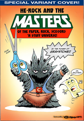 PAPER ROCK SCISSORS N' STUFF WARS #3 (MICHAEL T GILBERT HE-ROCK VARIANT)