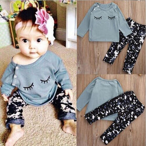 2018 Baby 2PCS Autumn winter New baby girl clothes - a-m-kidz-korner