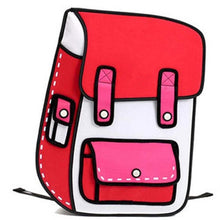 Load image into Gallery viewer, 3D Jump Style 2D Drawing Cartoon Paper Bag Comic Backpack Messenger Tote Fashion Cute Student Bags Unisex Bolos - a-m-kidz-korner
