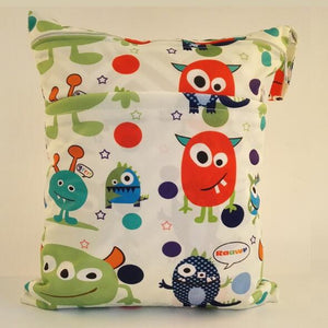 1PC Reusable Waterproof Fashion Print Wet/Dry Diaper Bag - a-m-kidz-korner