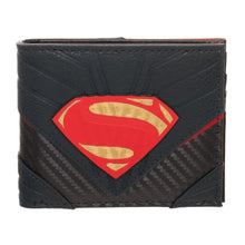 Load image into Gallery viewer, Superman Wallet Justice League Wallet Superman Accessory - DC Comics Wallet Superman Gift - a-m-kidz-korner