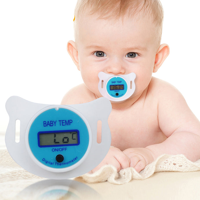 Baby Nipple Thermometer Medical Silicone Pacifier LCD Digital - A&M Kidz Korner