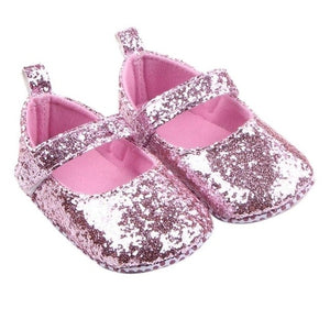 Baby Girl Shoes Bling Princess First Walkers Solid - a-m-kidz-korner