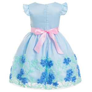 Fashion Floral Baby Girl dress Princess Bridesmaid - a-m-kidz-korner