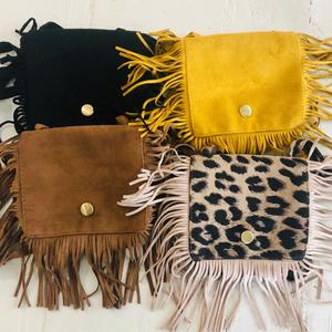Leather over the Shoulder Fringe Bags - A&M Kidz Korner