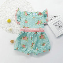 Load image into Gallery viewer, Newborn Baby Floral Print Roupas Jumpsuit Toddler - A&M Kidz Korner
