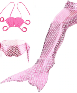 Pink Mermaid Swimsuit & Tail - a-m-kidz-korner