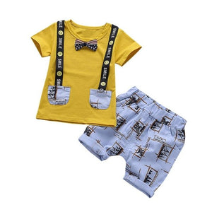 Summer Children's Short Sleeve Lettering Smiley - a-m-kidz-korner