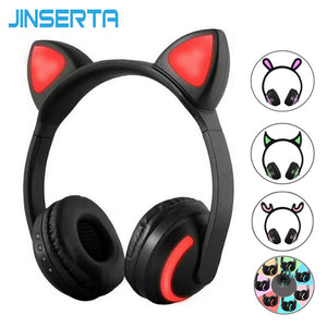 JINSERTA -Ear Headphones 7-Color- LED Flashing- Wireless Bluetooth Headphone - A&M Kidz Korner