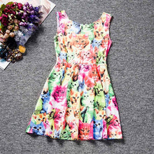 Load image into Gallery viewer, vestido infantil Kids Baby Girls  dress lovely Cat - a-m-kidz-korner