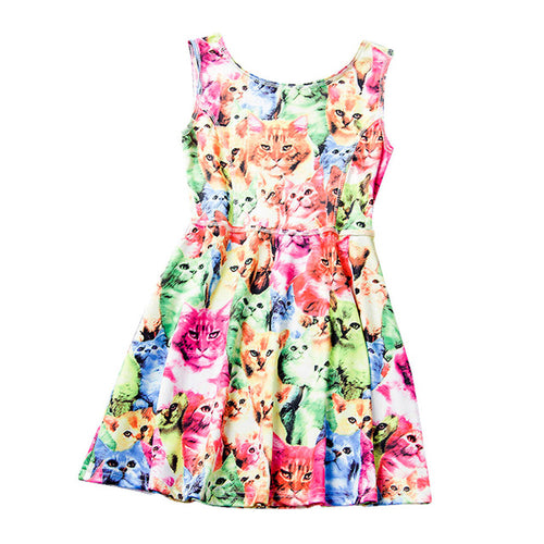 vestido infantil Kids Baby Girls  dress lovely Cat - a-m-kidz-korner