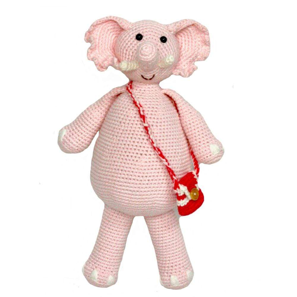 bebemoss.com stuffed animal Barry the elephant pink handmade by moms  gifts with purpose