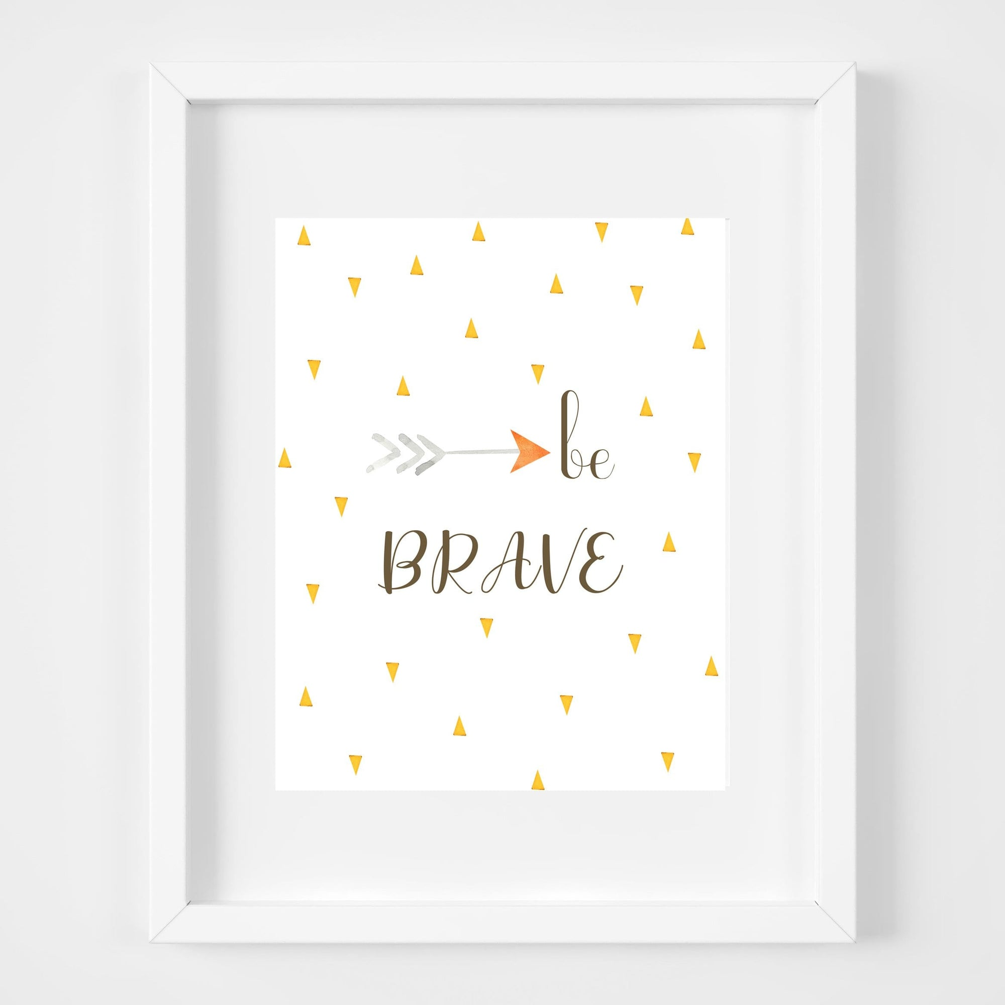 bebemoss.com Be brave print handmade by moms  gifts with purpose