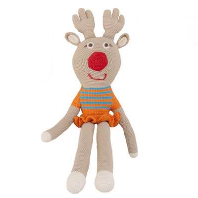 bebemoss.com toy Big friend reindeer handmade by moms  gifts with purpose