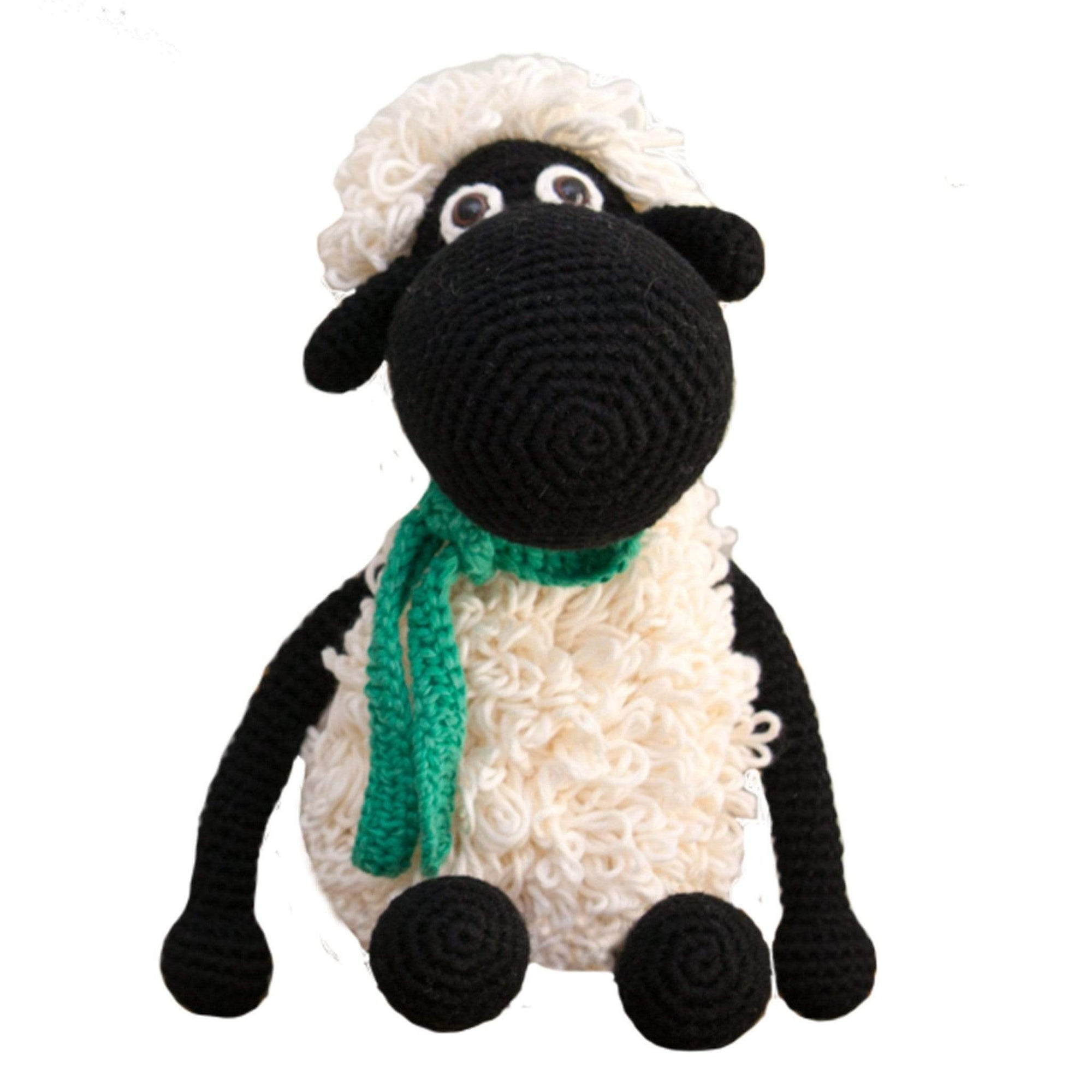 bebemoss.com stuffed animal Darla the sheep - black handmade by moms  gifts with purpose