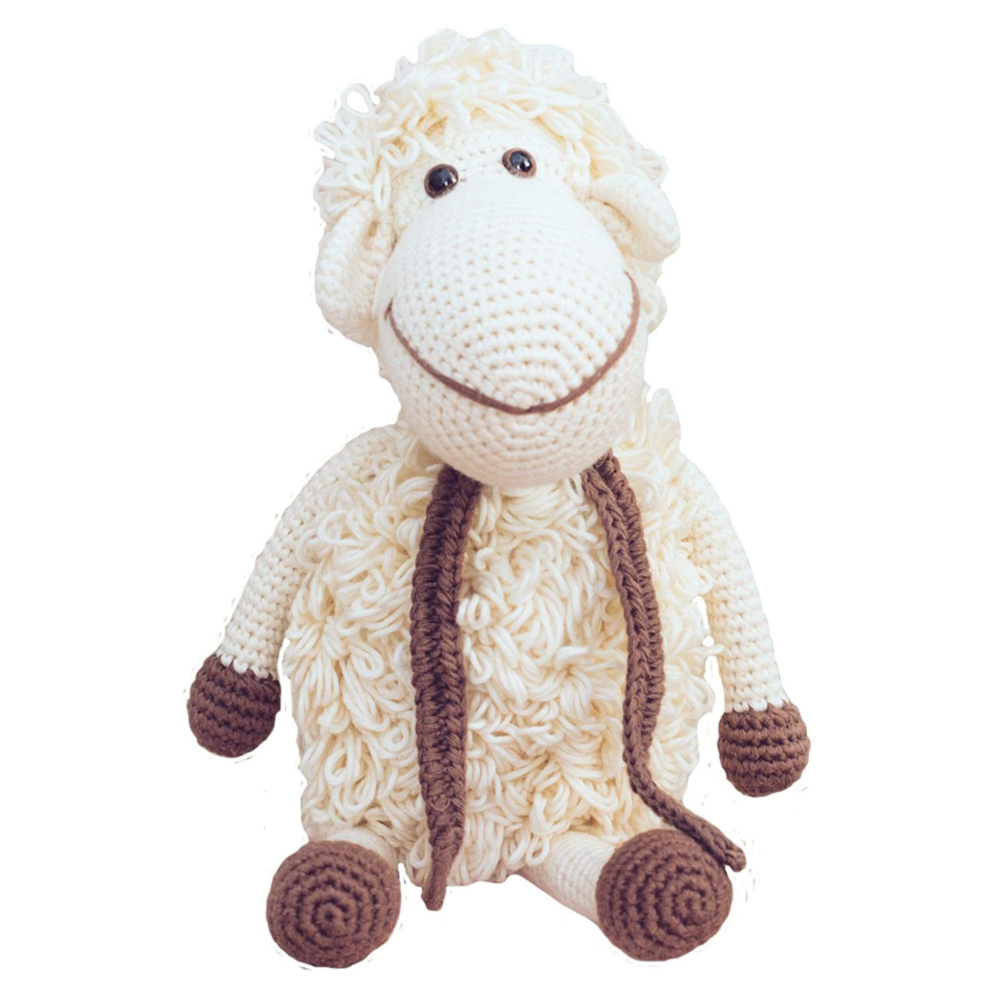 bebemoss.com stuffed animal Darla the sheep - white handmade by moms  gifts with purpose