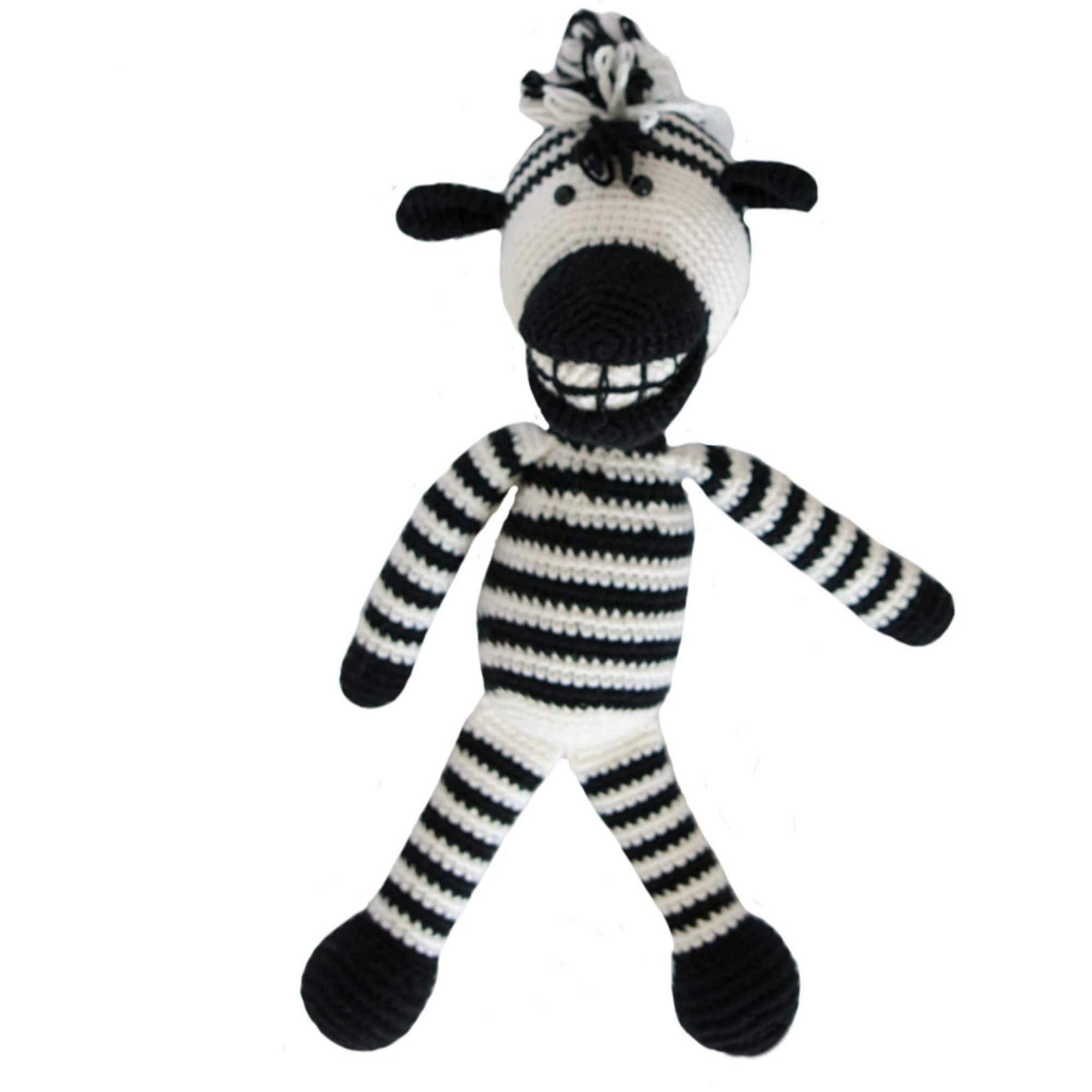bebemoss.com stuffed animal Lebo the zebra handmade by moms  gifts with purpose