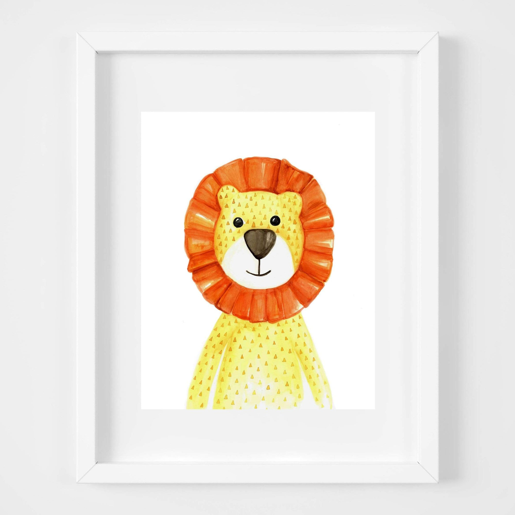 bebemoss.com Leo the lion print handmade by moms  gifts with purpose