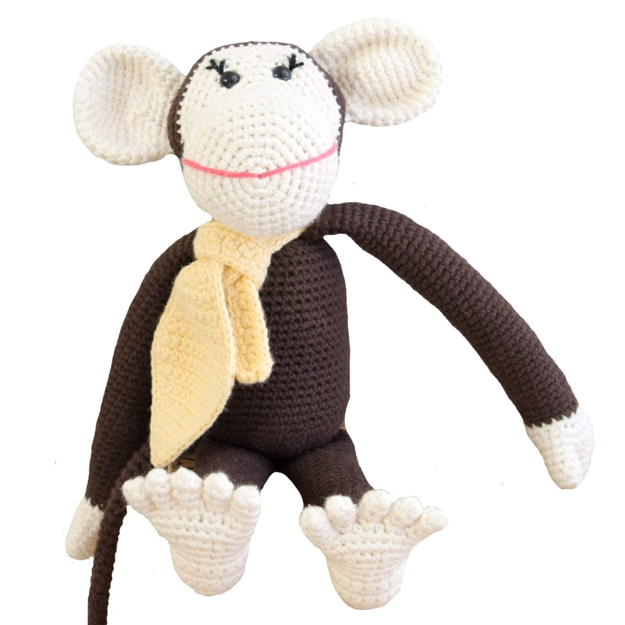 bebemoss.com stuffed animal Momo the monkey - brown handmade by moms  gifts with purpose