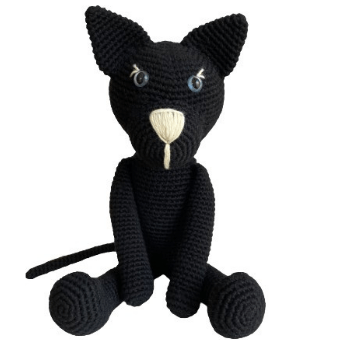 bebemoss.com toy light blue Oliver the cat Limited edition handmade by moms  gifts with purpose