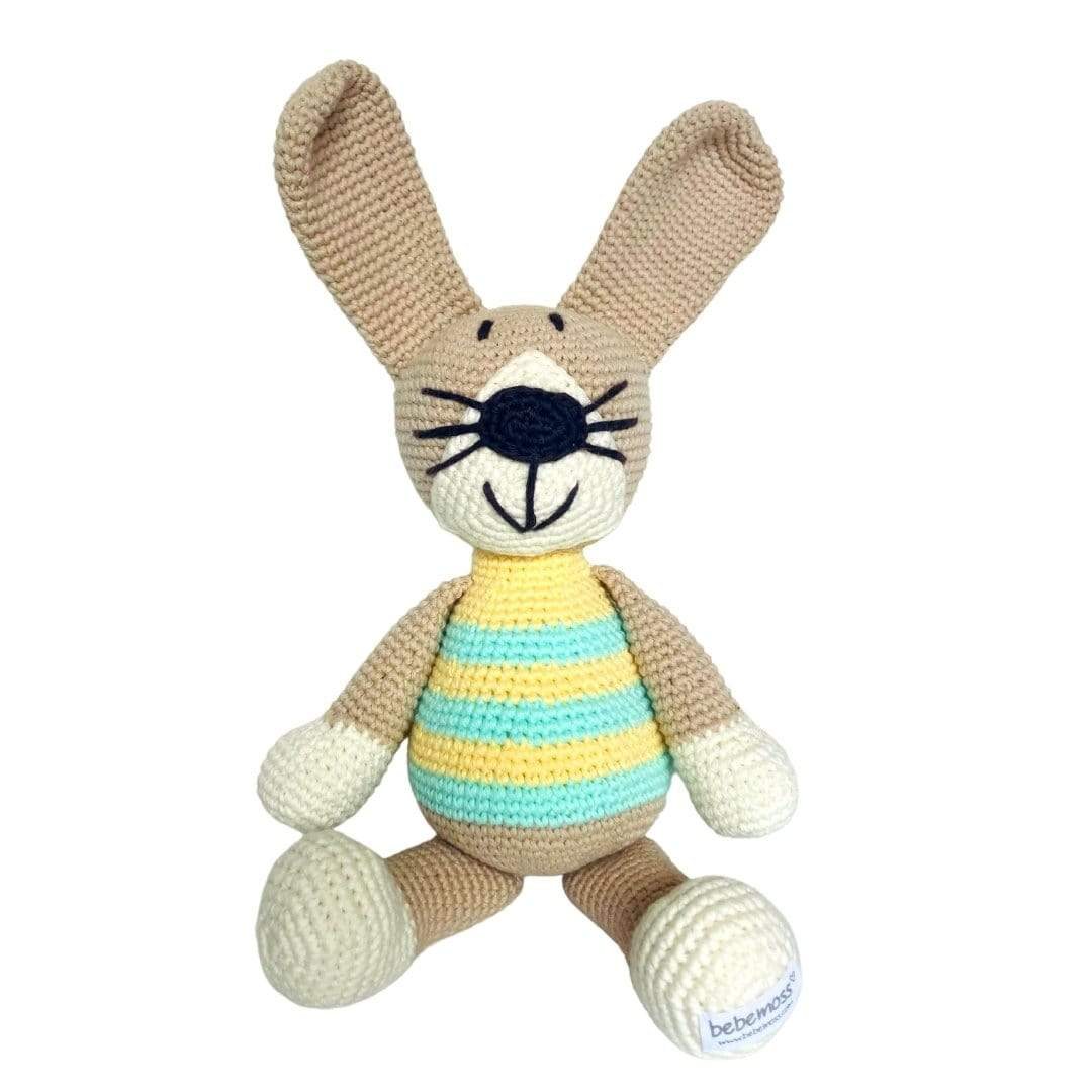 bebemoss.com stuffed animal Peter the rabbit- limited edition handmade by moms  gifts with purpose