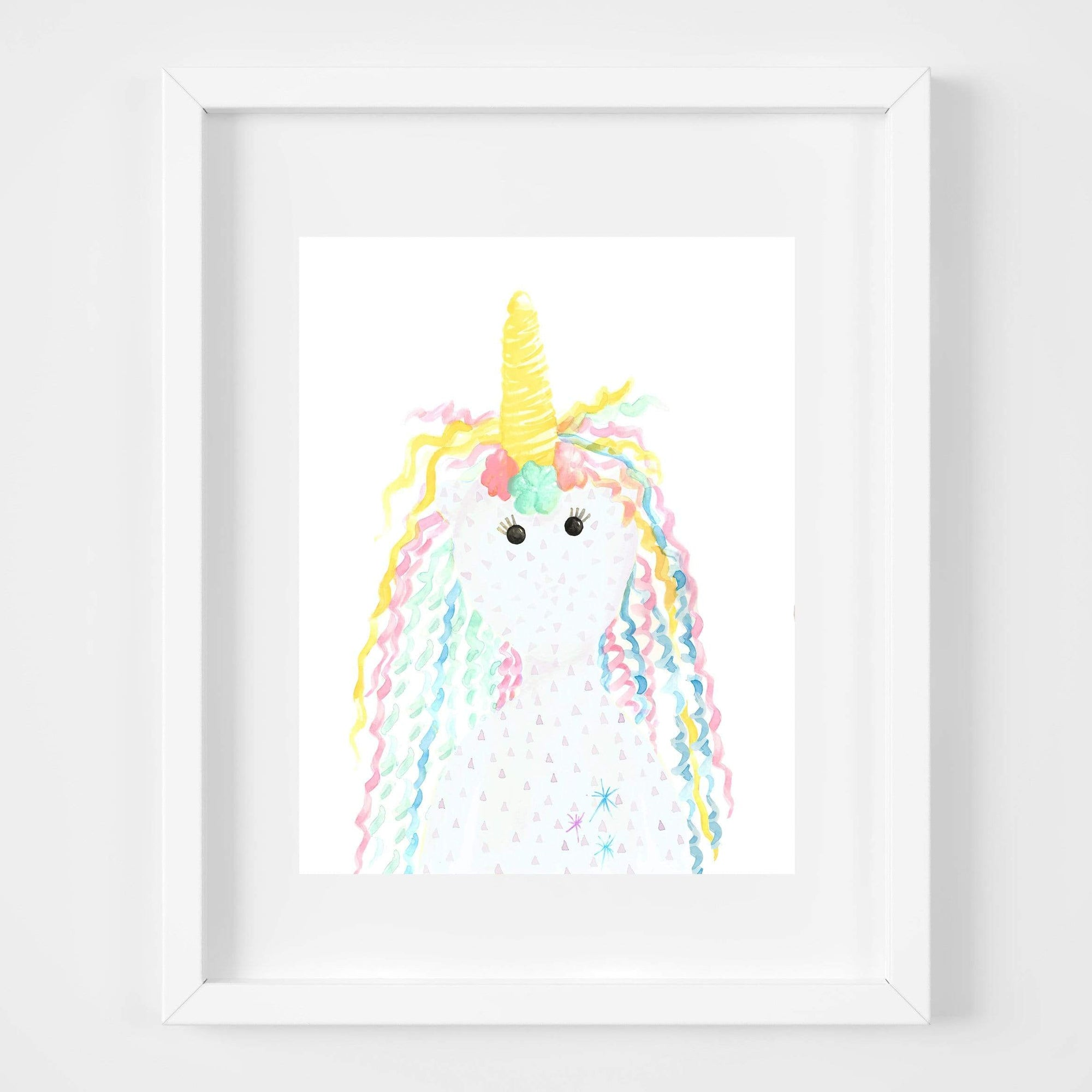 bebemoss.com Rose the unicorn print handmade by moms  gifts with purpose
