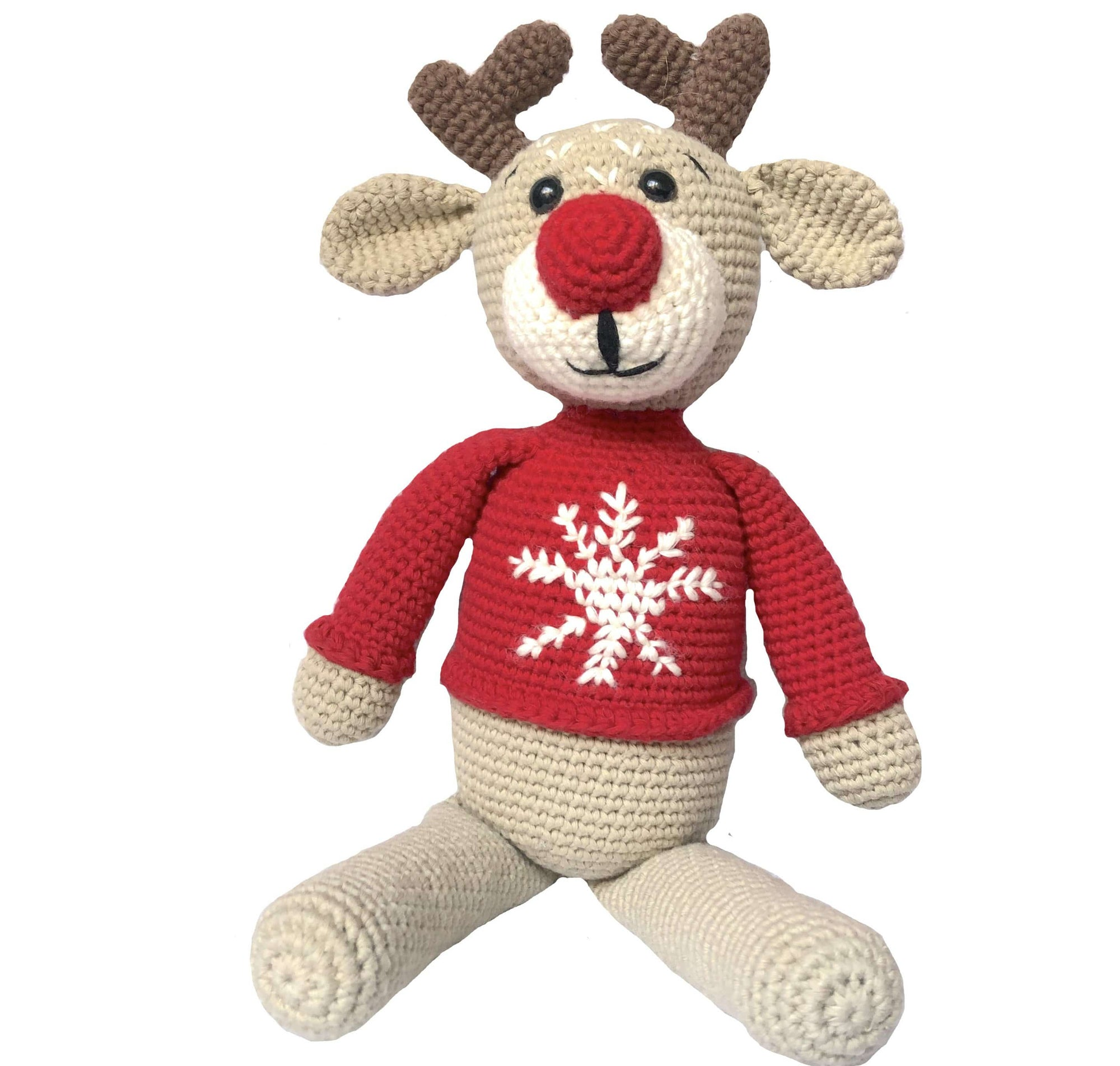 bebemoss.com toy Ruddy the reindeer handmade by moms  gifts with purpose