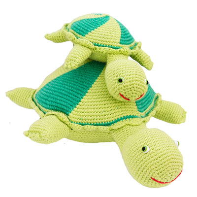 bebemoss.com toy Thelma and Louse the turtles handmade by moms  gifts with purpose