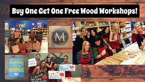 April 10th @ 7pm ~ BOGO Paint & Sip Wood Workshop - Pick Your Project- DEERFIELD - Buy One Get One FREE