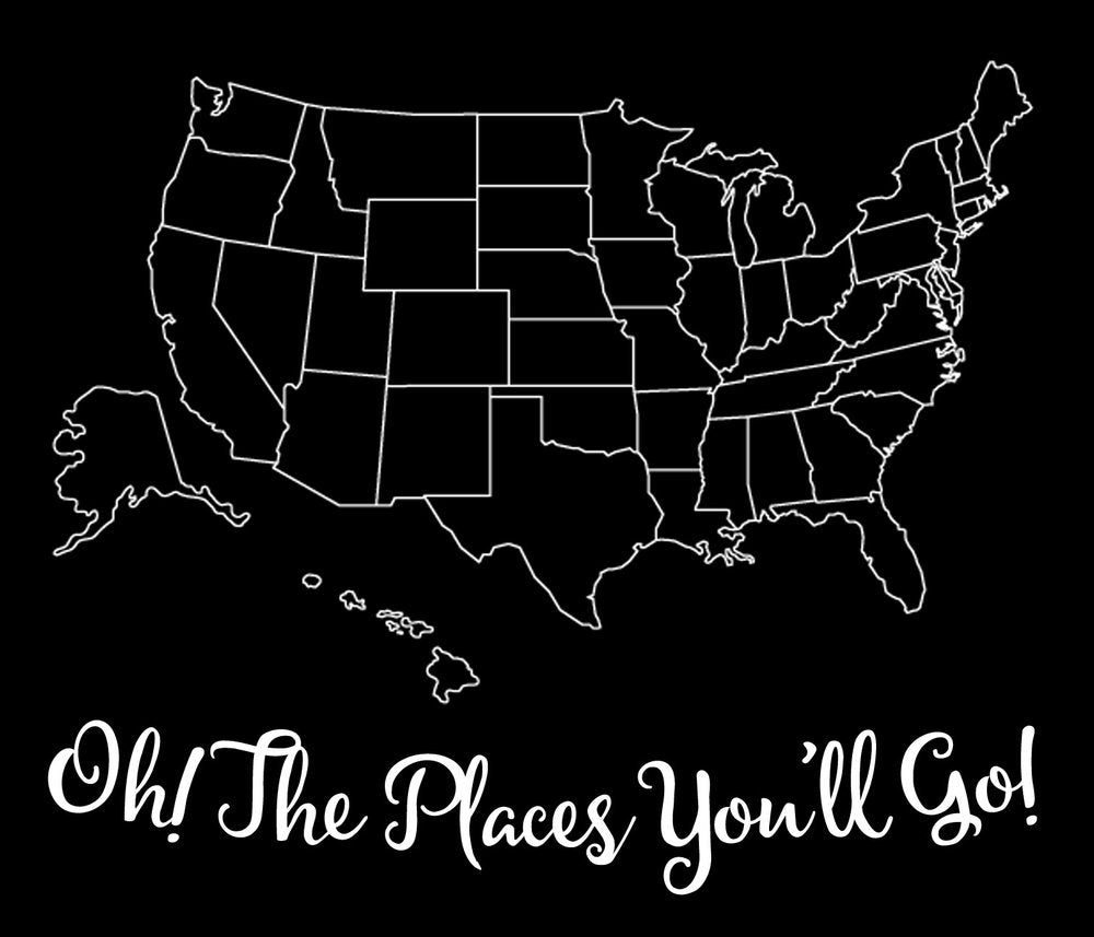 Oh The Places Youll Go - Large Wood Sign