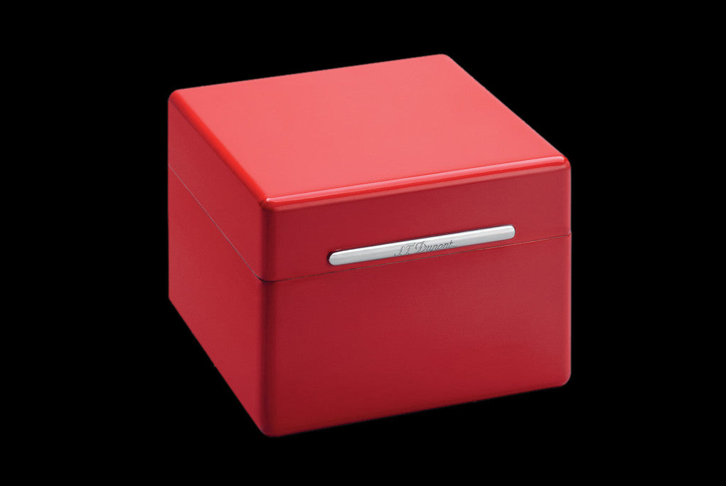 S.T. Dupont Cube - Mini humidor MaxiJet metallic red