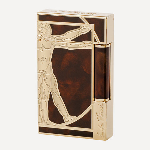 Ligne 2 - Vitruvian Man prestige Natural Lacquer, Palladium and Yellow gold finish Brown