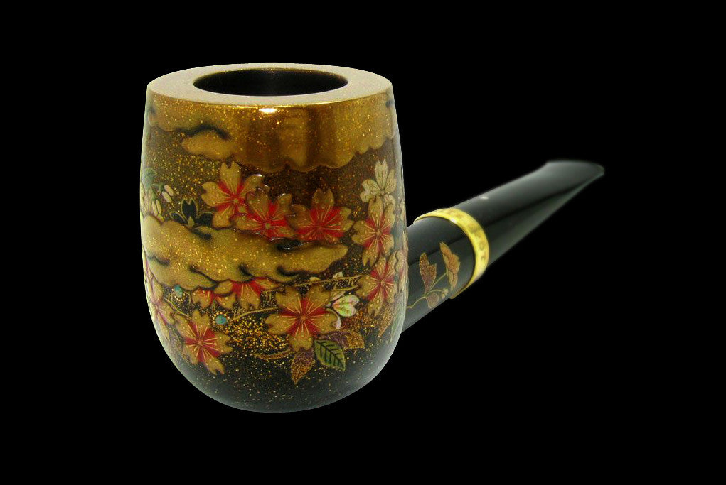 Dunhill Namiki Sakura 5 of 10 Limited Edition Billiard 4103 Gold Band